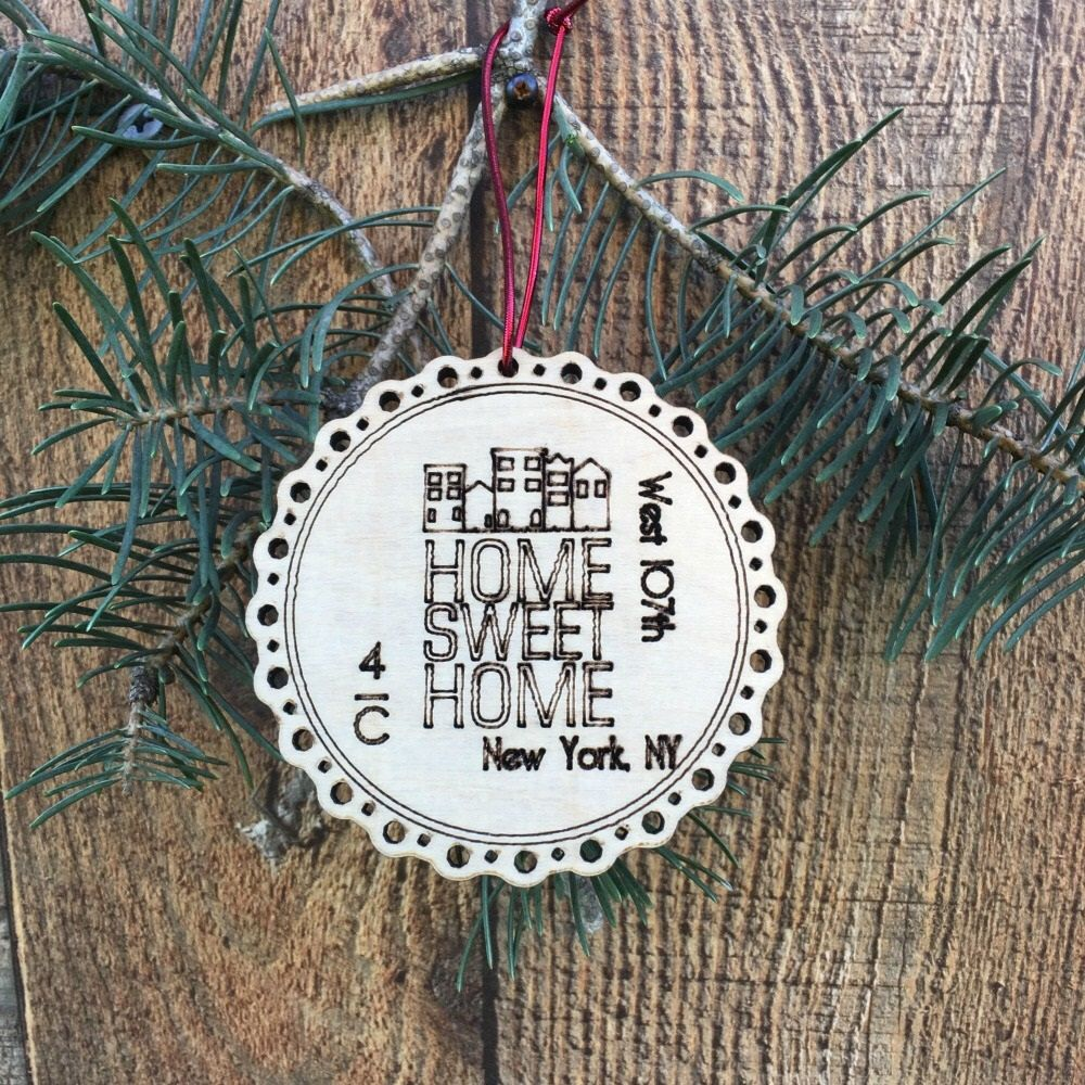 Rustic Our First Apartment Ornament Christmas New Gift Housewarming