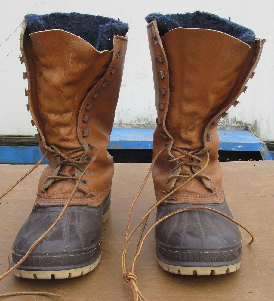 12deee51522 Sorel Men's Frontier Kaufman Brown Leather & Rubber ~ Wool Inserts ...