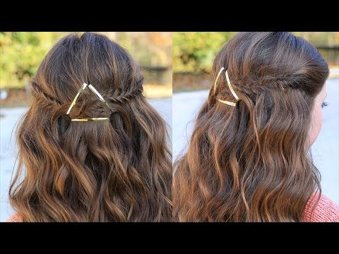 Barrette Hairstyles How To Create A Barrette Tieback  Hair Tutorials  Cute Girls