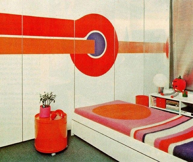 Arredamento anni 70 - Camera da letto in stile anni 70 | Space age ...