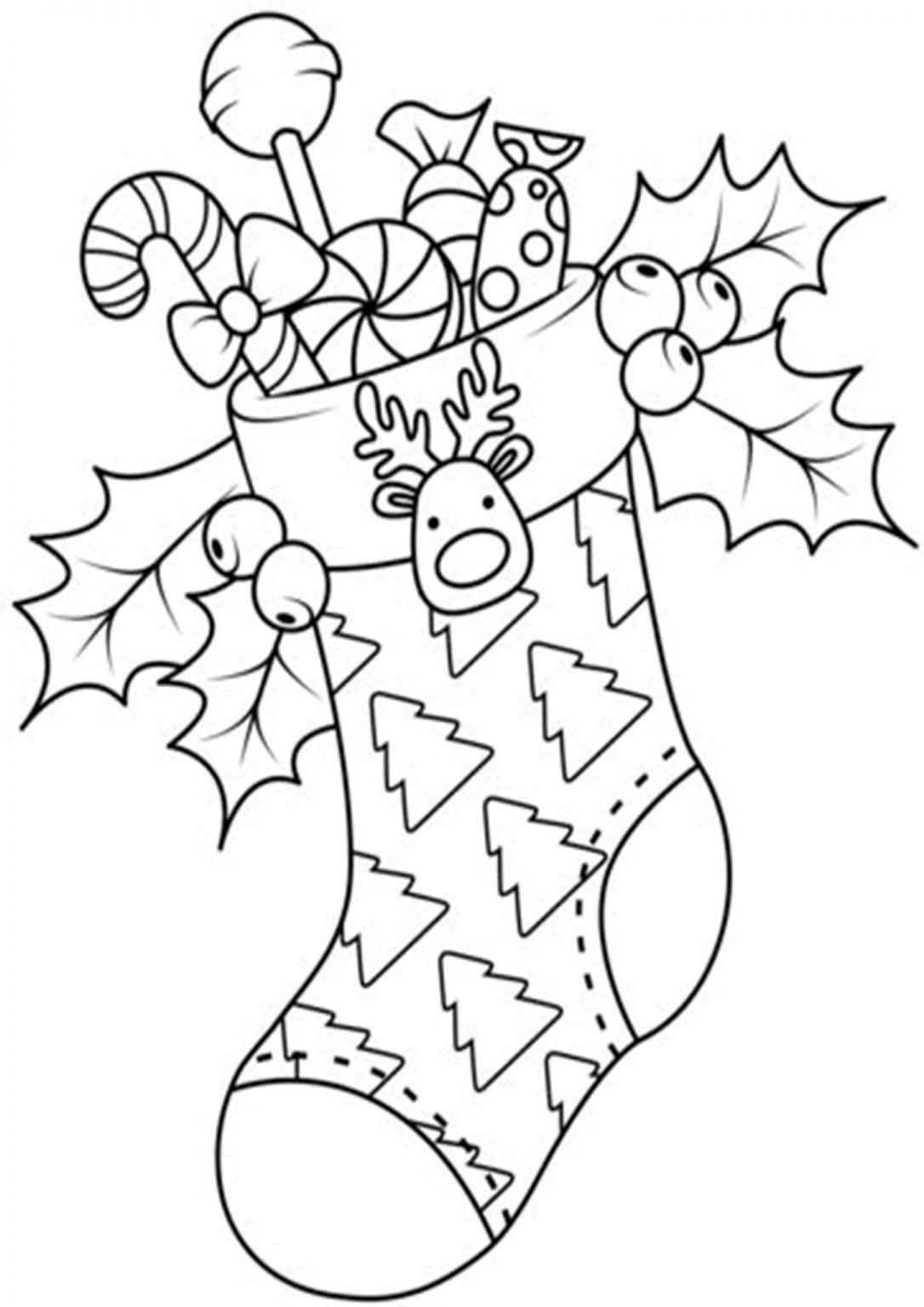 Christmas Stocking Coloring Pages For Kids Printable Christmas Coloring Pages Printable Christmas Stocking Christmas Coloring Pages