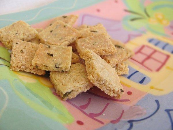 Almond Rosemary Crackers  -the blueberry bin