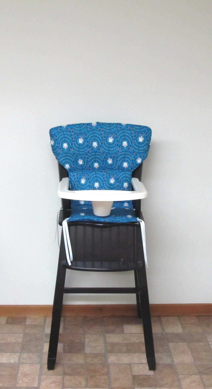 Newport style Eddie Bauer cushion, safety 1st wooden high