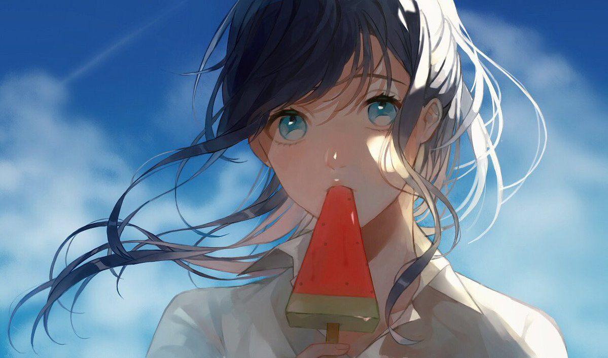 雪白みくろ on Anime scenery, Anime, Drawings