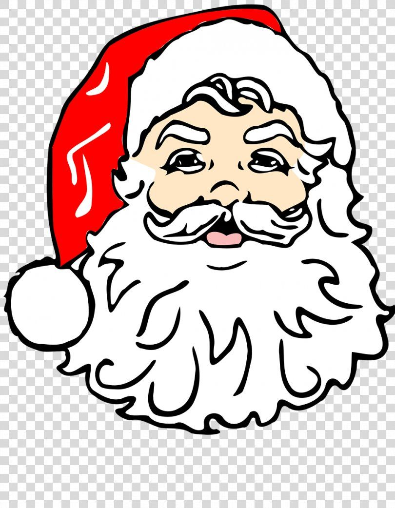43++ Santa face outline clipart ideas