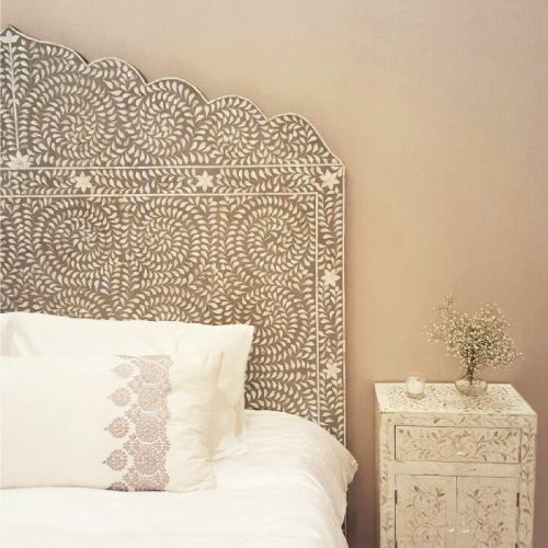 King Mother Of Pearl Headboard By The Yard