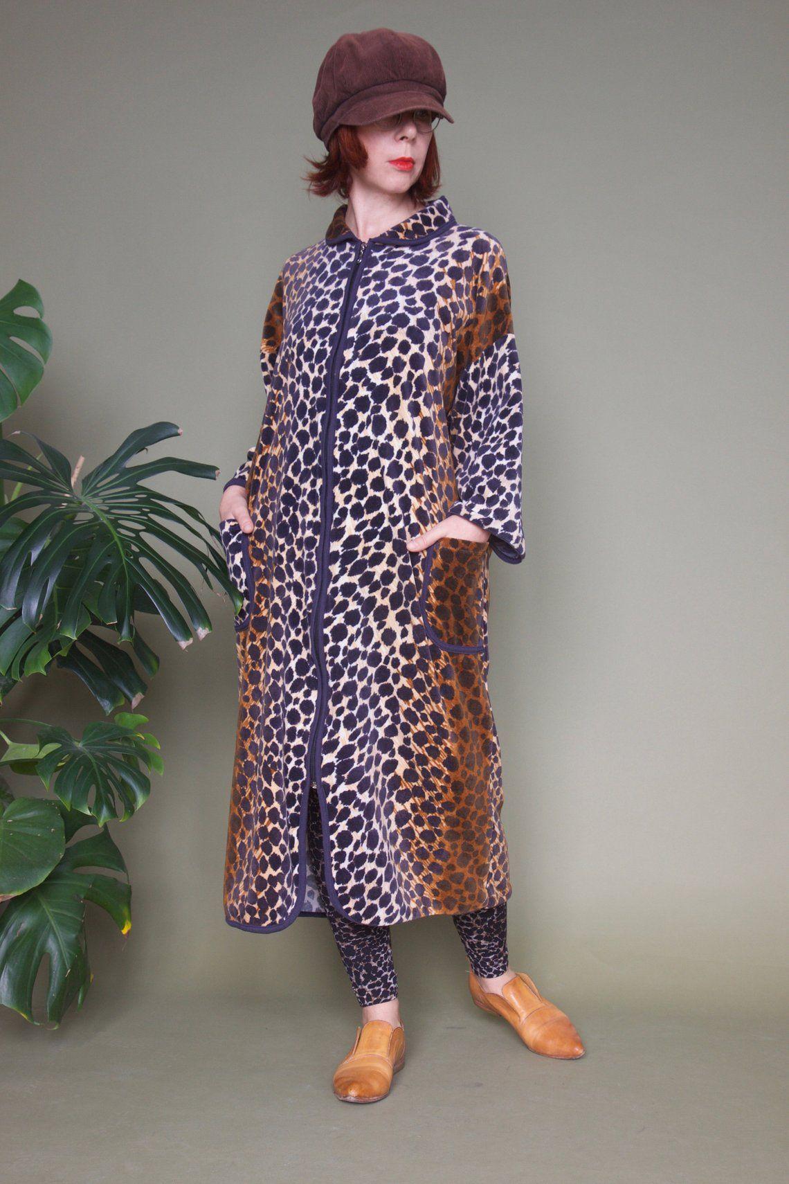 zebra print dressing gown