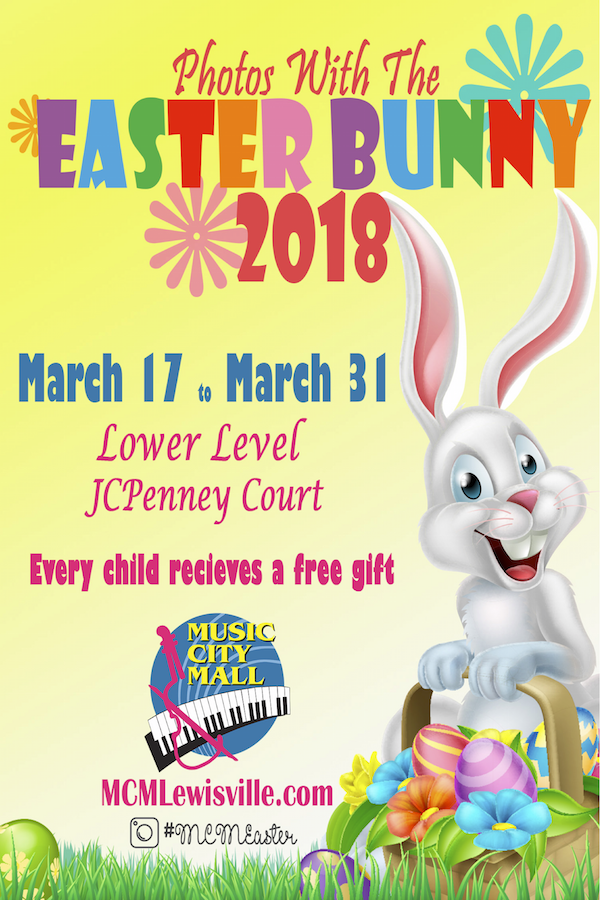 Easter Bunny Music City Mall With Images Easter Bunny Easter Event Little Elm