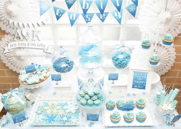 10 must-see Frozen dessert tables! | CatchMyParty.com
