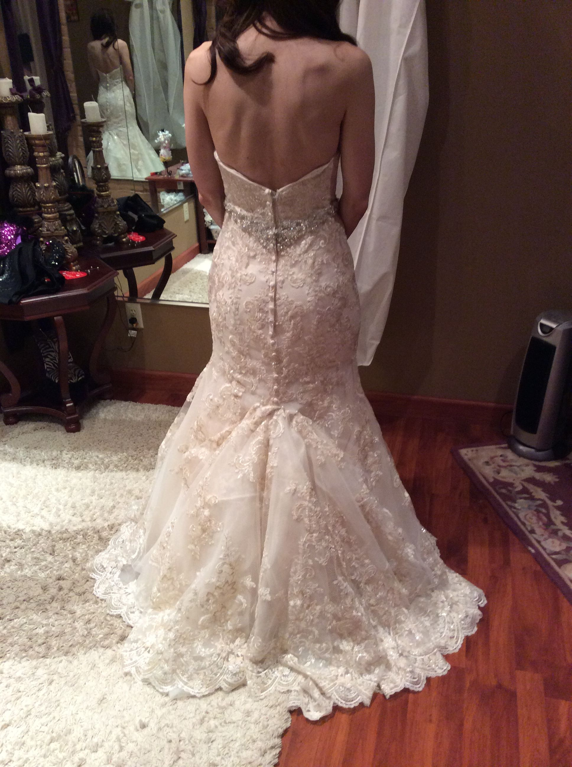 Over Bustle Diy Wedding Dress Bustle
