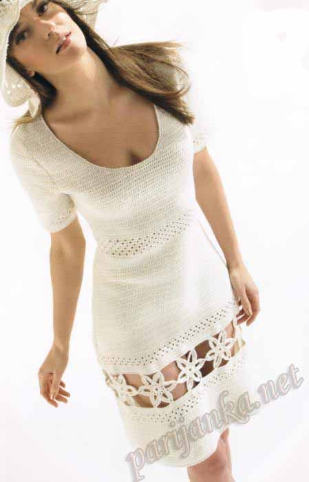 White French crochet dress. Discussion on LiveInternet - Russian ...