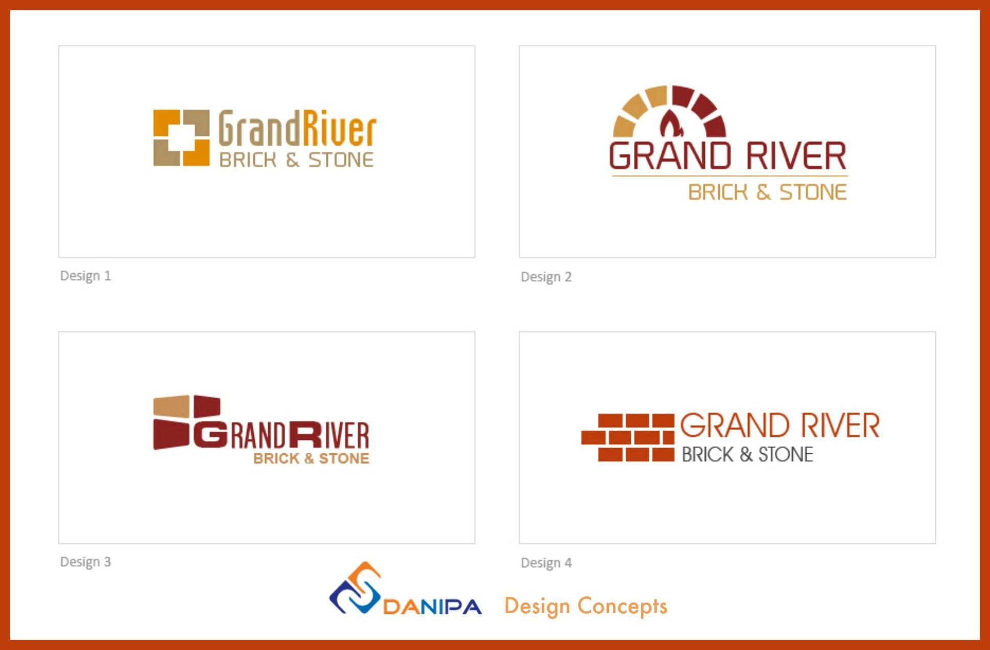 Logo Design Concepts for Grand River Brick & Stone, in Kitchener ...