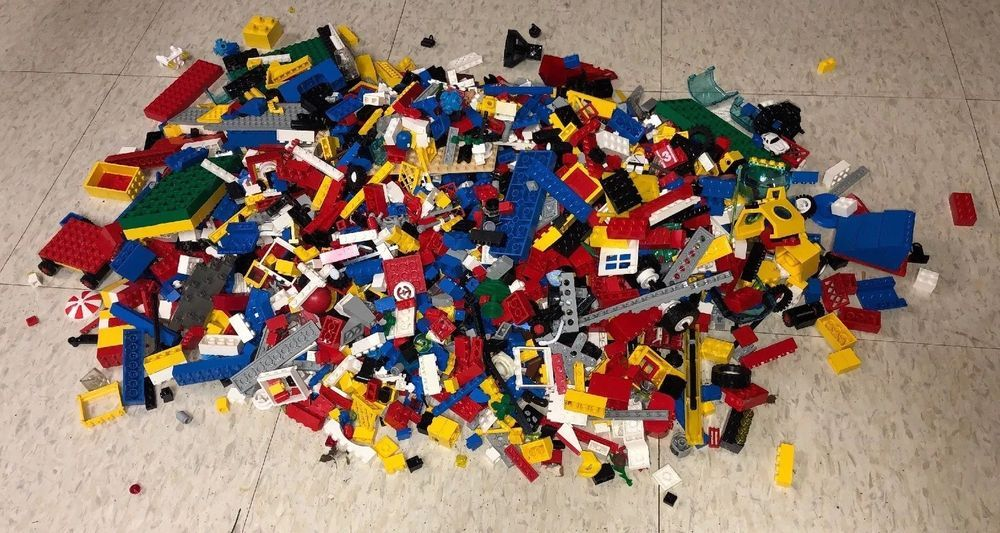 1000 Lego Pieces Blocks Brick Parts Random Lot Assorted Mixed Genuine LEGOs