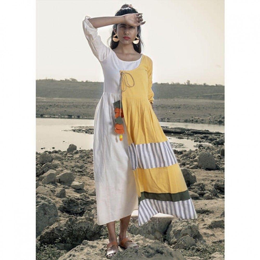 Yellow long linen dress mesmora dresses in pinterest