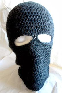 cfc57782457 Free Crochet Pattern  Basic Ski Mask For those times you feel like robbing  the bank!