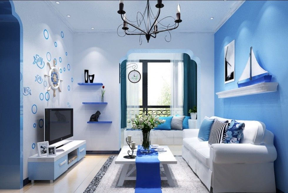 Arredareunacasaalmare 979×657  Colori Casa Al Mare Mesmerizing Blue Color Living Room Design Decoration