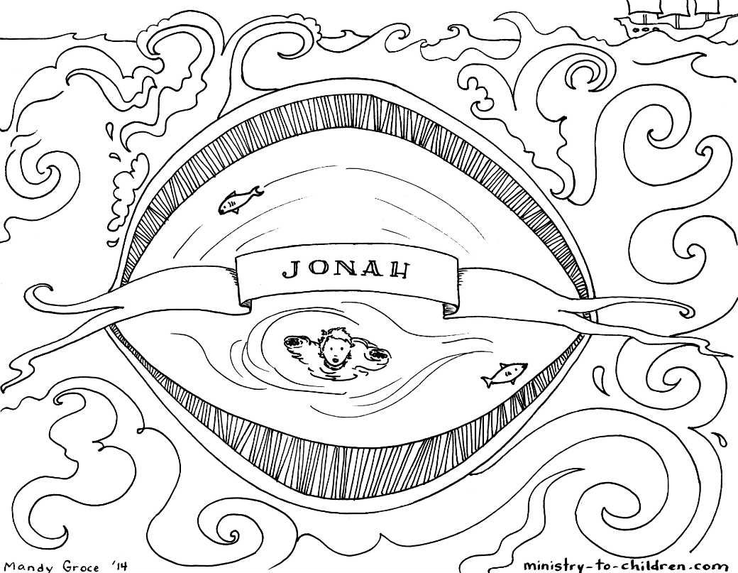 Free printable coloring pages of jonah and the whale - This Free Coloring Page Is Based On The Book Of Jonah It S One Part Of Our Series Of Illustrations For Each Individual Book Of The Bible