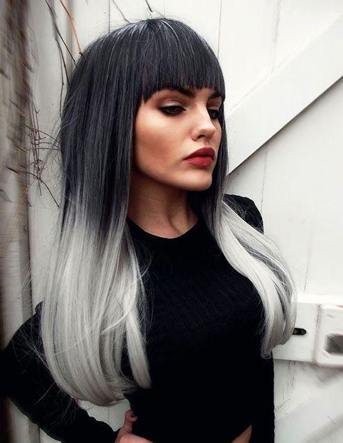 Graue Ombre Haar Trends Frisuren In 2019 Haare Grau Färben