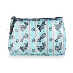 Pattern LA TT Essentials Bag Small - Seaflower Turquoise. This versatile cosmetic bag can also double as a pencil case! Great for all your school gear. #backtoschool http://www.patternla.com/collections/cosmetic-bags/products/tt-essentials-bag-small-seaflower-pink