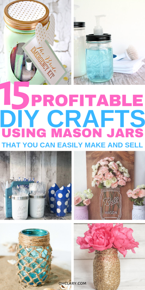 15 Diy Mason Jar Crafts To Sell For Extra Cash That You Need To Know About Mason Jar Crafts Diy Easy Mason Jar