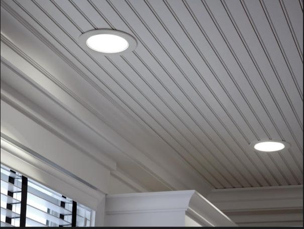 Recessed Lighting In A Beaded Ceiling Using Adjustable Low