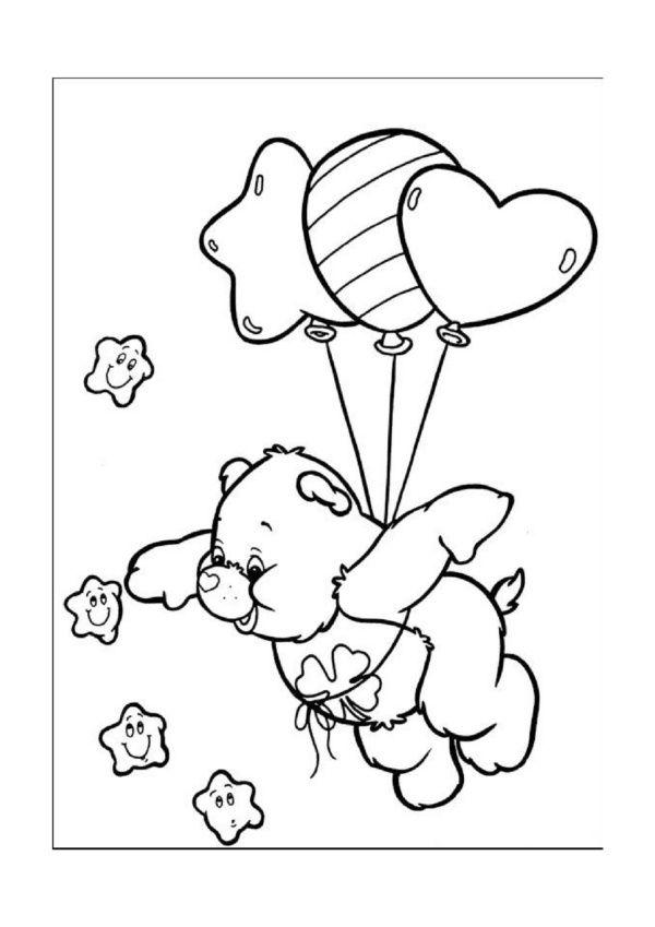 De Troetelbeertjes Kleurplaten voor kinderen. Kleurplaat