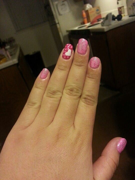 Valentines Day nails! Feeling the love this year ♥