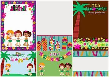 Invitaciones Para Fiesta Hawaiana De Niñas Para Imprimir Gratis Invitaciones De Fiesta Invitaciones Para Imprimir Gratis Fiesta Hawaiana