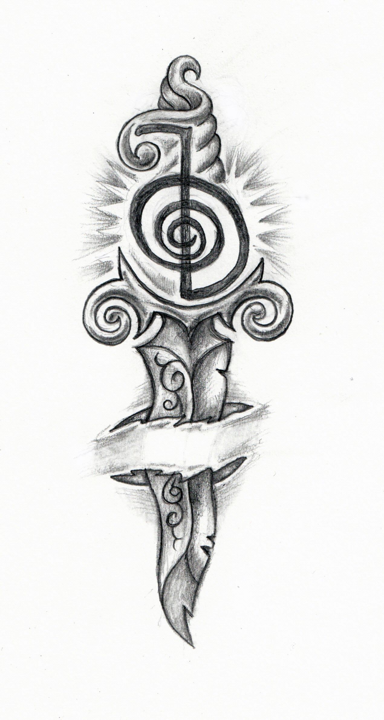 Dagger tattoo meanings itattoodesigns - My New Tattoo Design Reiki Strength Knife