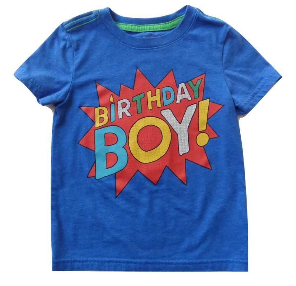 CAT JACK Super Hero Comic Book Style Blue BIRTHDAY BOY Shirt Sz 3T POW