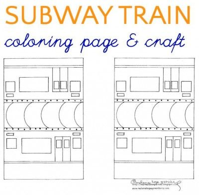 Subway Train Coloring Page Train Coloring Pages Coloring Pages