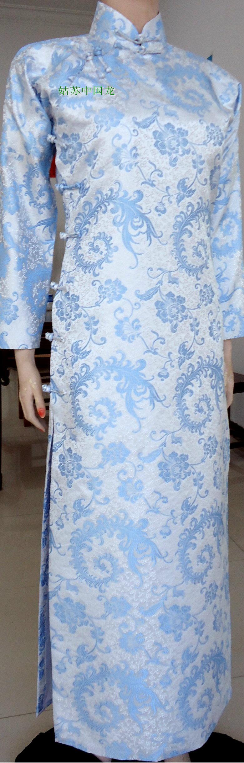 Long Sleeve Cheongsam Dress Qipao Chinese Dress Cheongsam Cheongsam China Dress [ 2433 x 780 Pixel ]