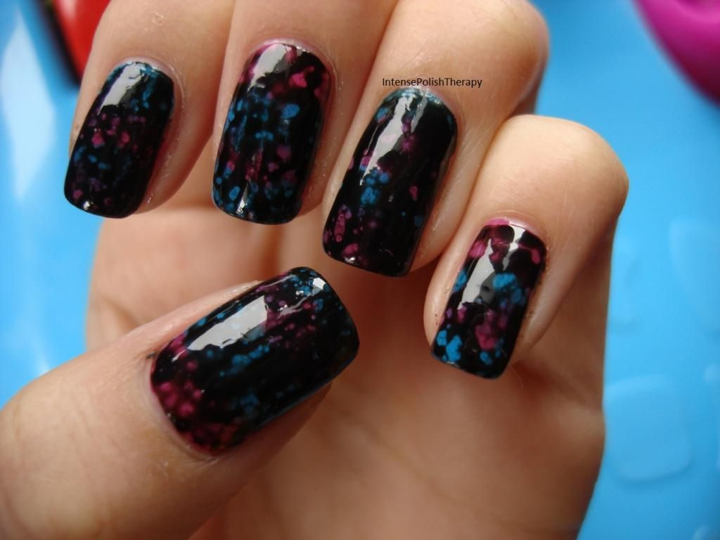 """nailtastic fun: Guest post by Anita using OPI """"spotted"""" and Essence polishes."""