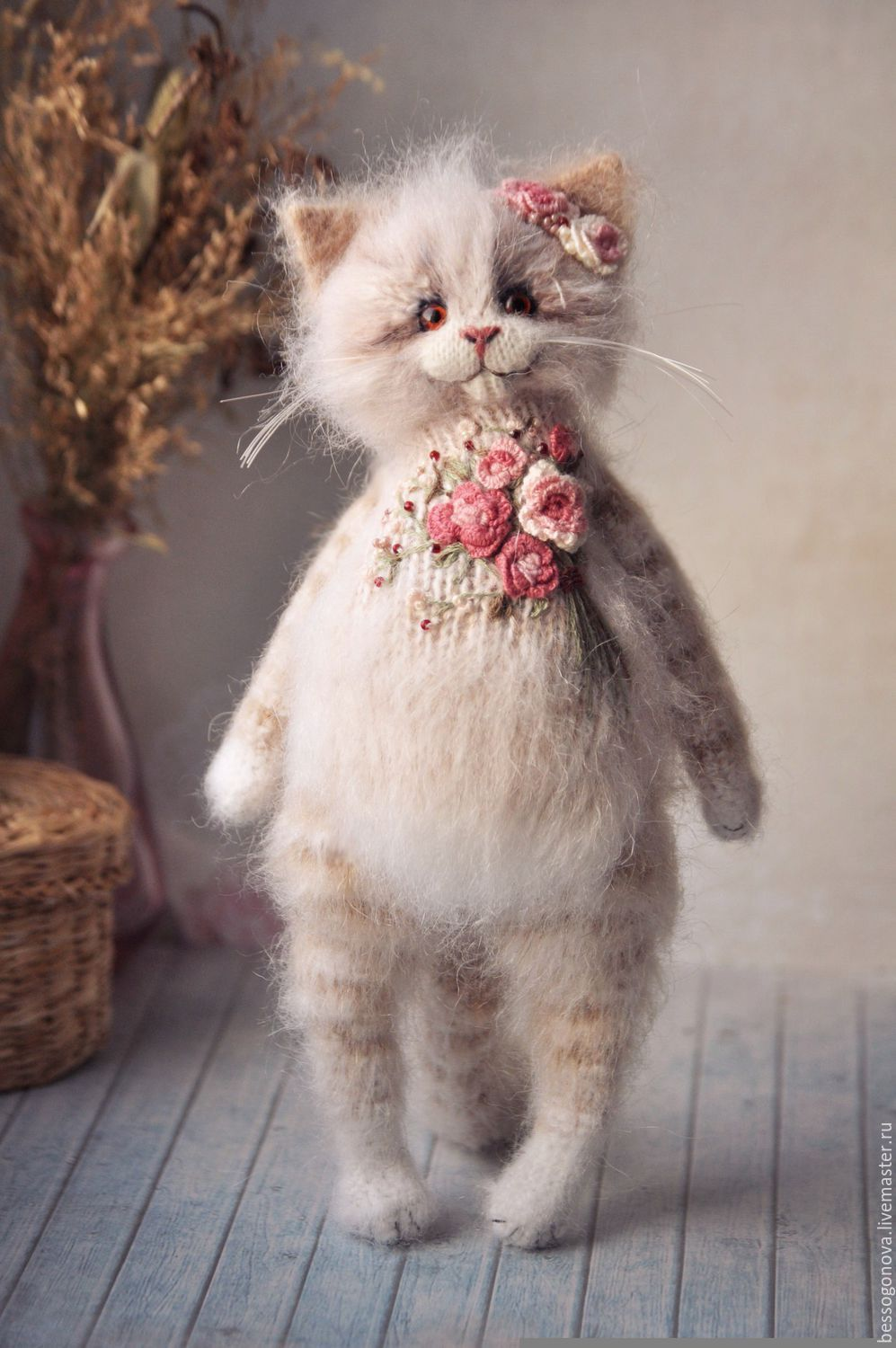 Embroidered coat rose cat toy | игрунки))) | Pinterest | Toy ...