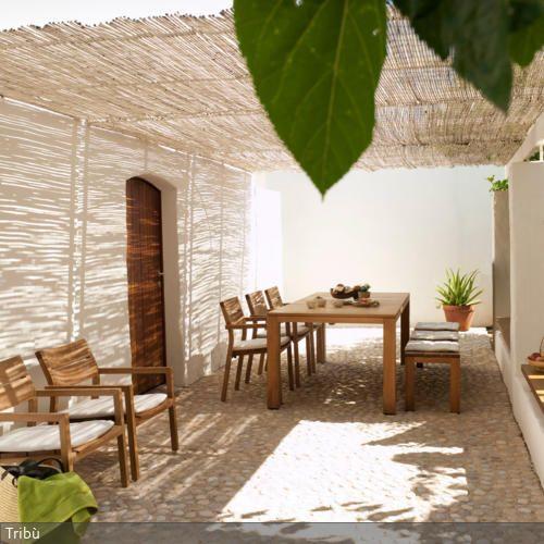 Sonnendach aus Bambusmatten Garten and Und