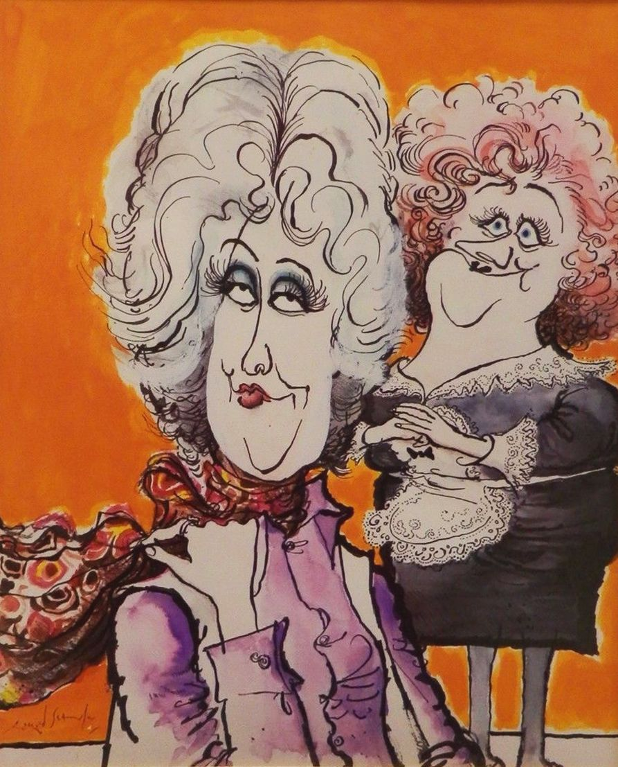 Ronald Searle - Bea Arthur as Maude from a 1970s TV guide.