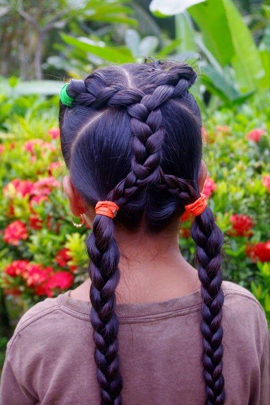 Braids Hairstyles For Super Long Hair Micronesian Criss Cross