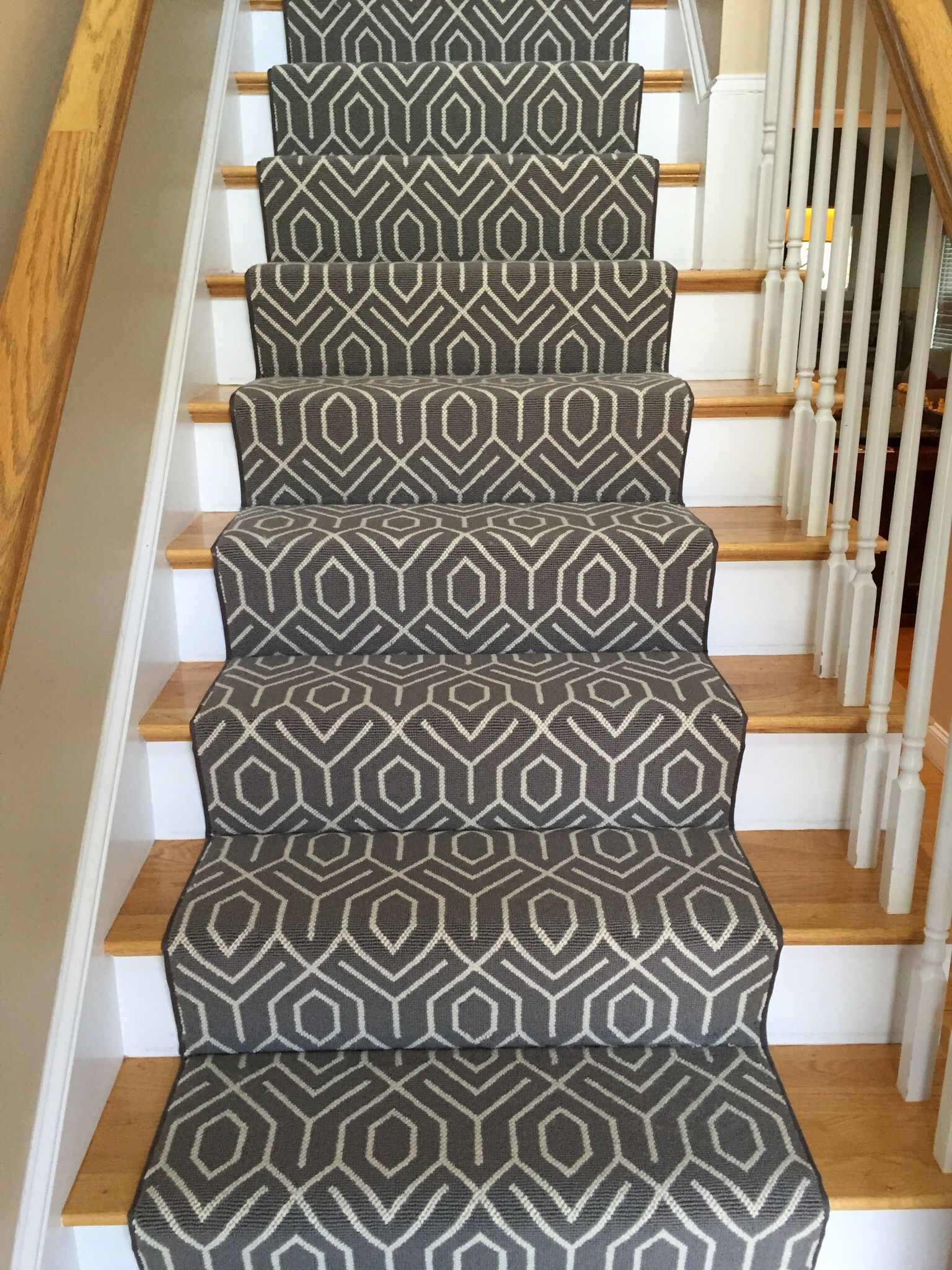 This Is A Silver Creek Carpet The Style Tessio Geometric Stair Runner Gray Rug