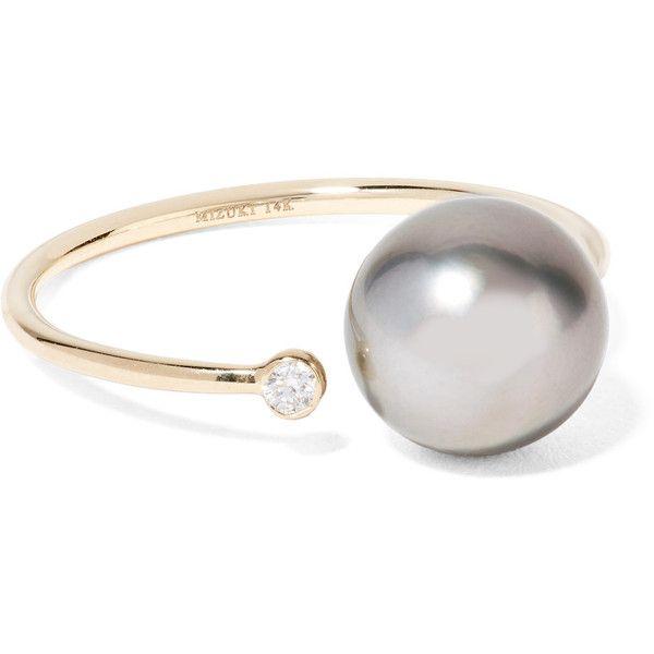 Mizuki 14-karat Gold, Diamond And Pearl Ring