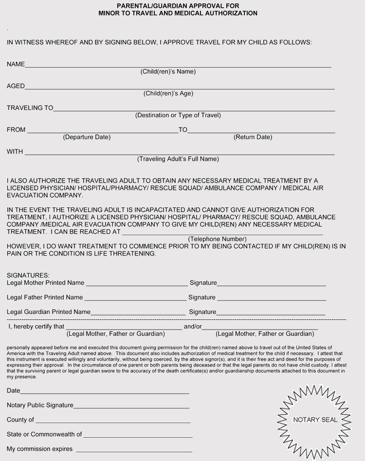 Medical Consent Form For Grandparents Lovely Free Medical Consent Forms For Minor Child In 2020 Letter Templates Free Scholarship Thank You Letter Children S Medical