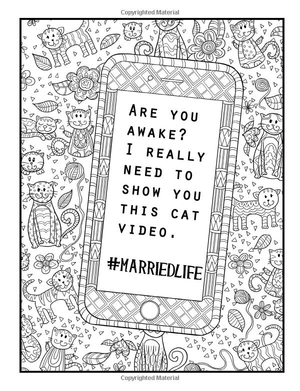 Married Life A Snarky Adult Coloring Book Humorous Books For Grown Ups