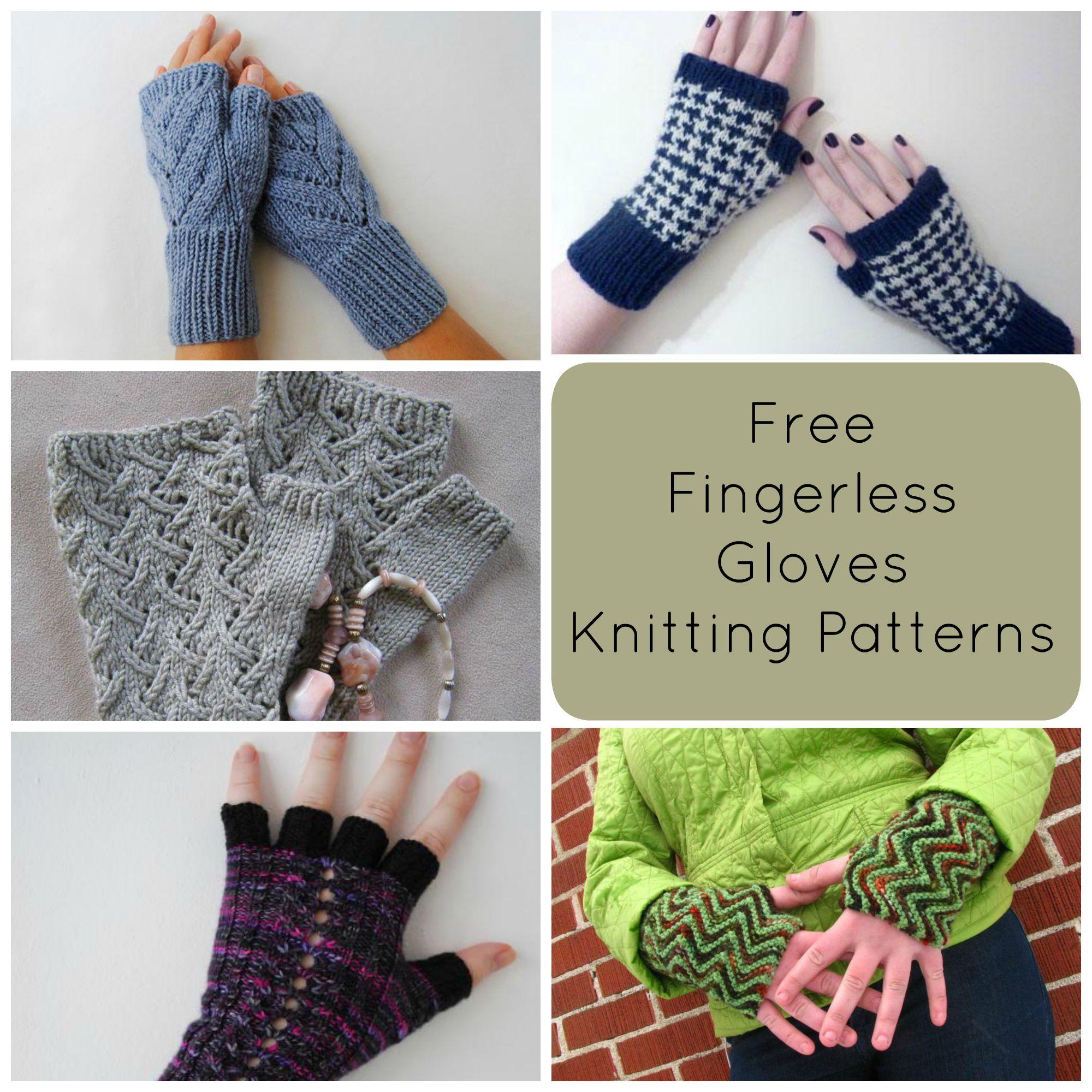 Free Fingerless Gloves Knitting Pattern Roundup | Fingerless gloves ...