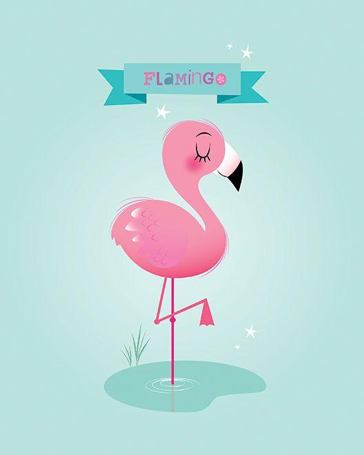 Tumblr flamingo. A set of vector