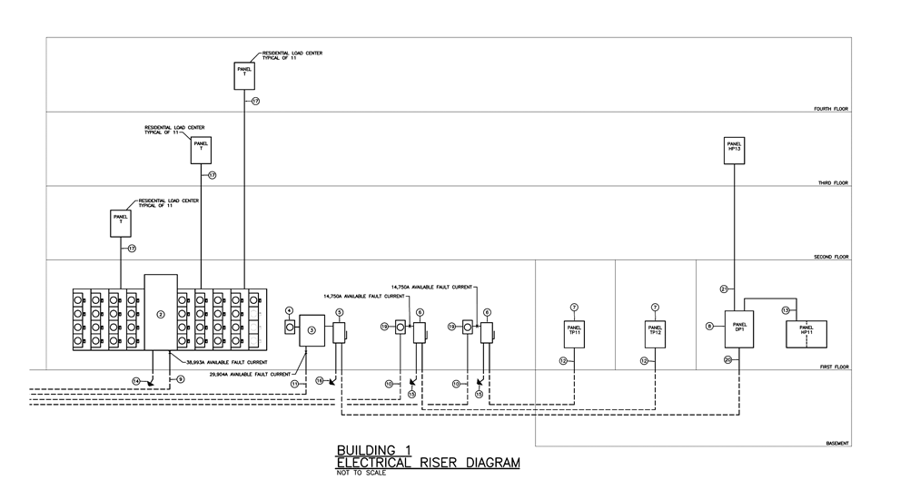 Riser Diagram In 2020 Electrical Engineering Electricity Alarm System