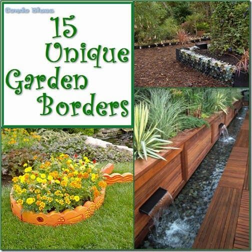 15 unique garden border and edging ideas garden borders ForUnique Garden Border Ideas