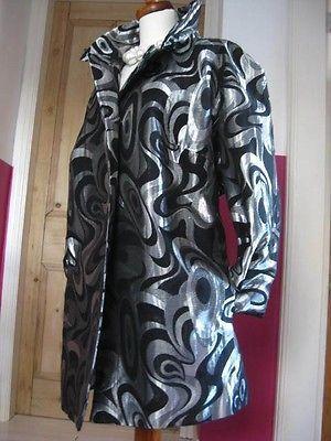 0417c93a10 LADIES-MARKS-amp-SPENCER-M-amp -S-silver-shiny-raincoat-coat-UK-22-20-jacket-metallic