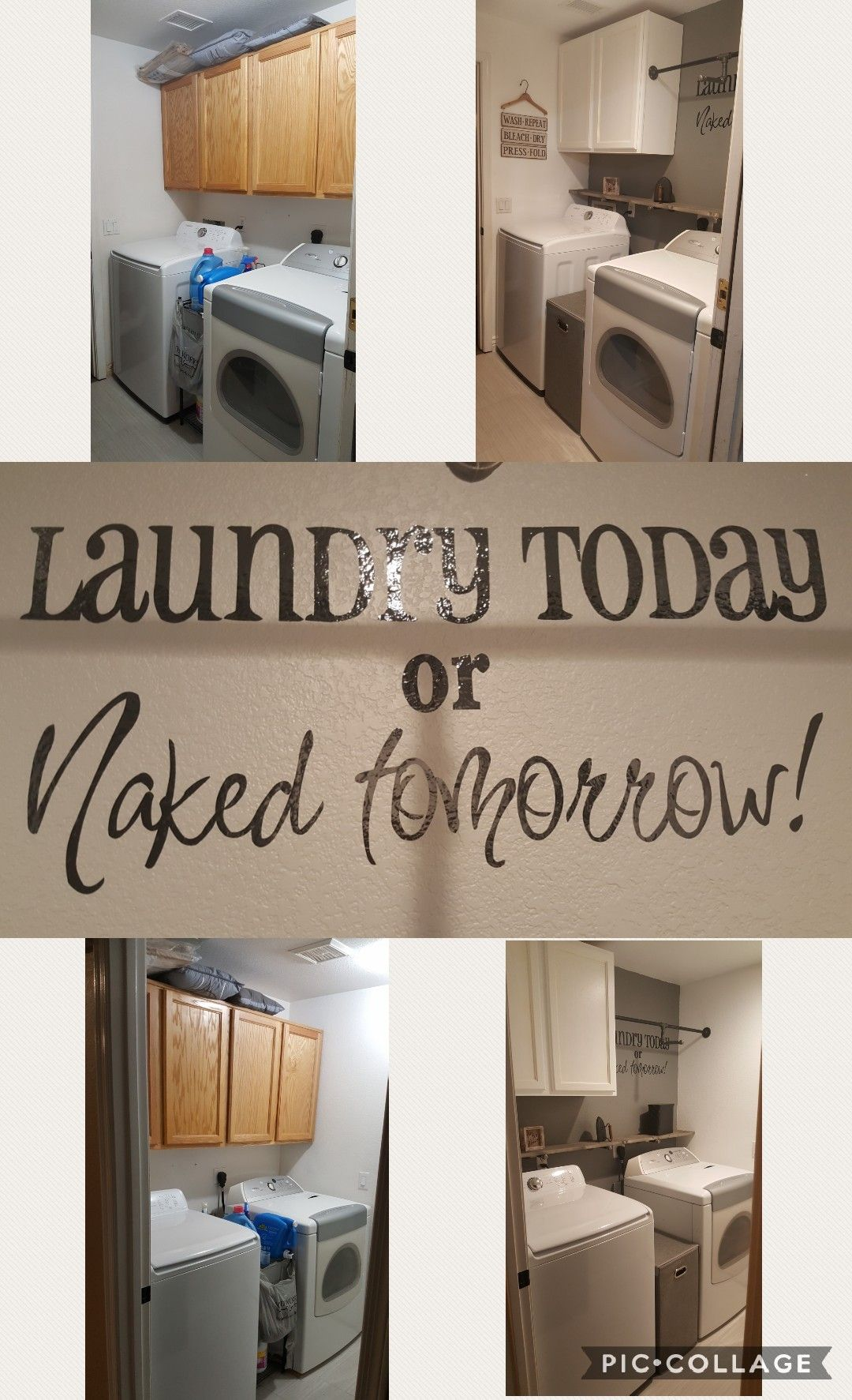 Laundry room remodel before and after. | Home remodeling ...