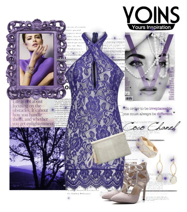 """Purple Lace"" by sheri-gifford-pauline ❤ liked on Polyvore featuring Chanel, yoins and yoinscollection"