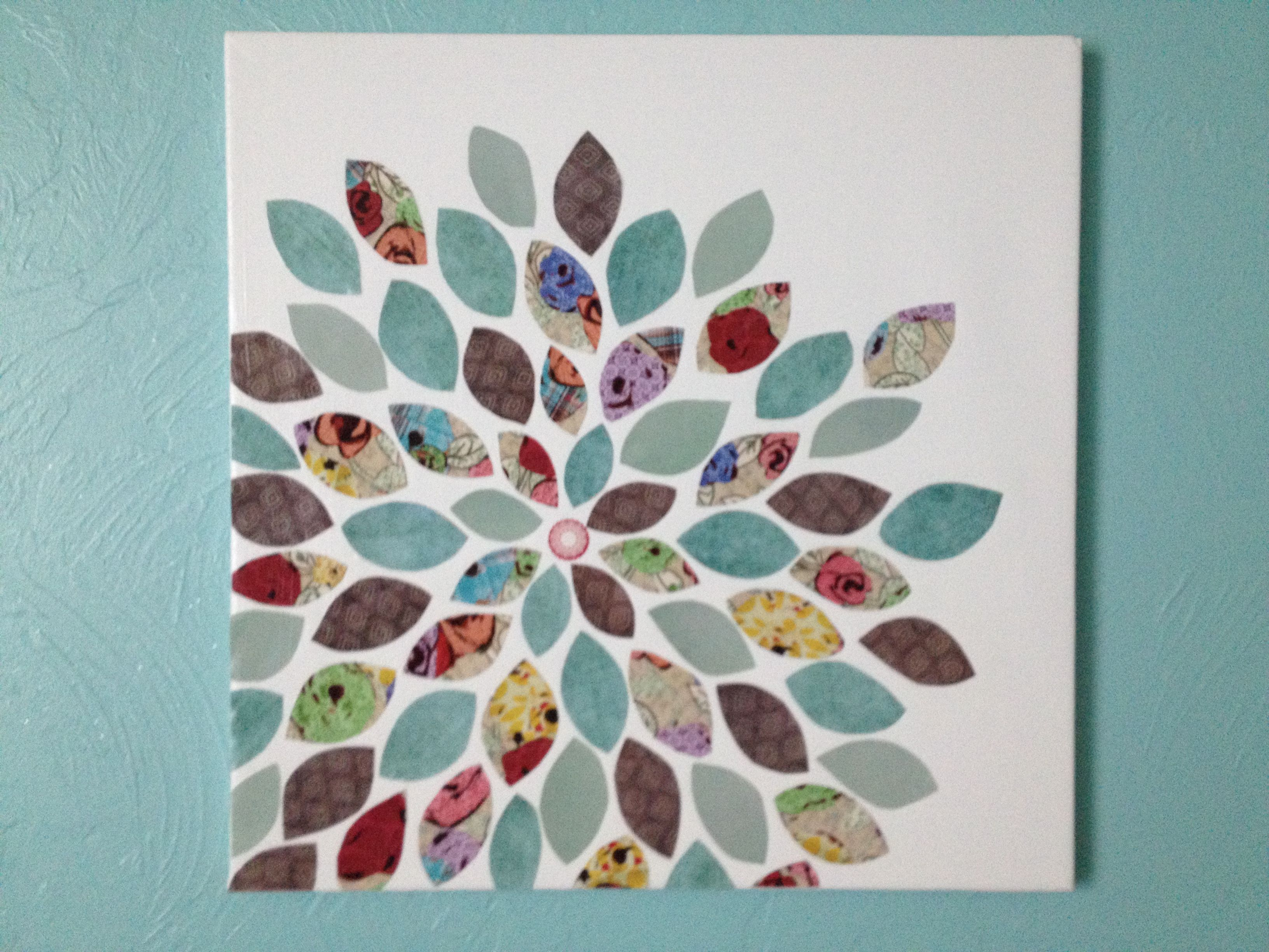 day 2 scrapbook flower canvas art for the home pinterest