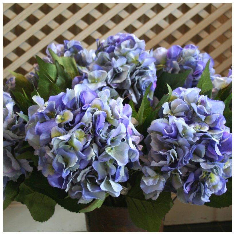 Hortensia Artificiel Deco Bleu Fleurs Artificielles Pinterest